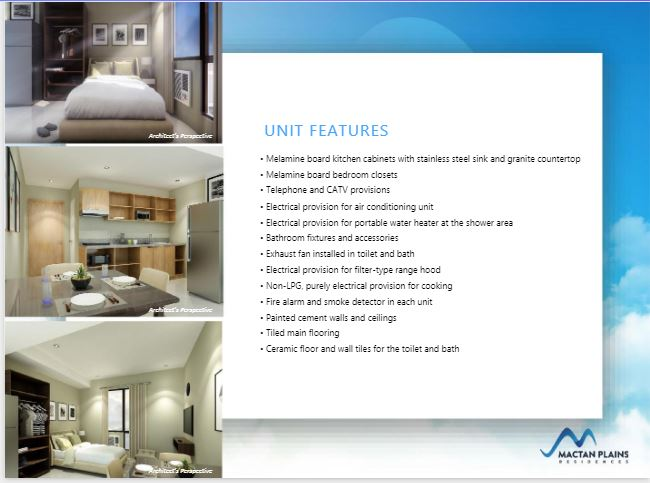 Mactan Plains Residences unit features
